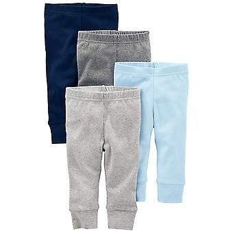 Simple Joys by Carter's Baby Boys 4-Pack Pant, Blue/Grey, Newborn