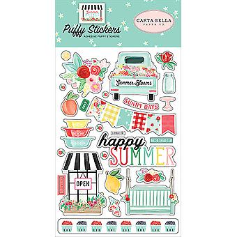 Carta Bella Summer Market Puffy Stickers