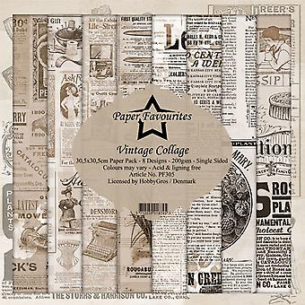 Dixi Craft Vintage Collage 12x12 Inch Paper Pack