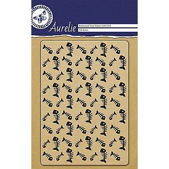 Aurelie rybí kosti pozadí jasné razítko
