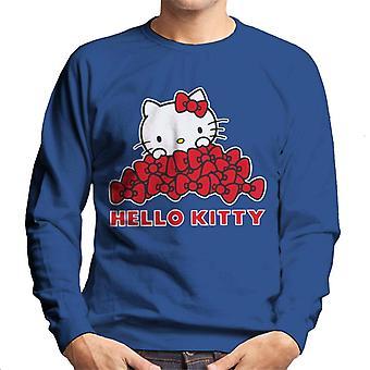 Hello Kitty runsaasti Punainen Jouset Miehet & s Collegepaita