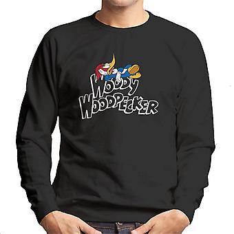 Woody Woodpecker Chilling Logo Men's Sweatshirt