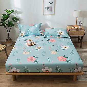 Soft Cotton Fitted Bed Sheet, Comfortable Non Slip Bed Mattress, Protective