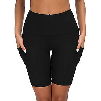 Custer's Night High Waist Out Pocket Yoga Pants Tummy Control Workout Running...