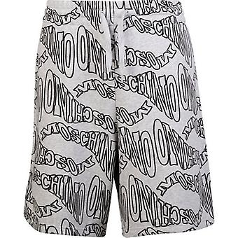 Moschino Couture All Over Logo Jersey Shorts