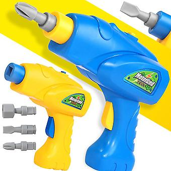 Simulation Rotatable Electric Drill Bits Puzzle Tool Model Pretend Play Kids