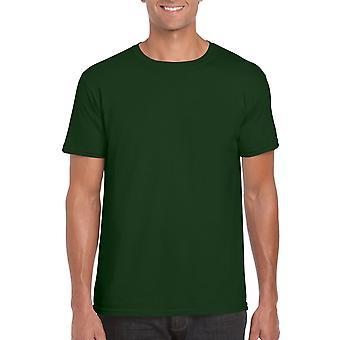 GILDAN G64000 Softstyle Men's T-Shirt in Forest Green