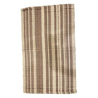 Spura Home Cotton Striped Hand Woven Beige Contemporary Runner Rug 24x40