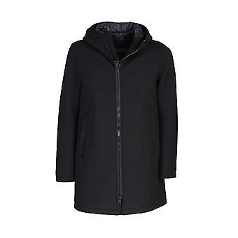 Herno Pa0042u395009300 Men's Black Viscose Outerwear Jacket