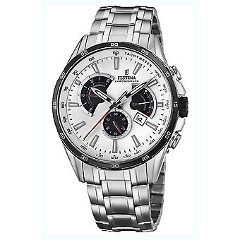 Festina chronograph watch for Analog Quartz Men with stainless steel bracelet F20200/1
