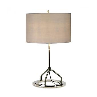 Vicenza Table Lamp White And Polished Chrome