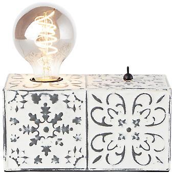 LUZ de mesa BRILLIANT Vagos lámparas interiores de 12cm crema, lámparas de mesa,-decorativos ? 1x A60, E27, 60W, adecuado para lámparas normales