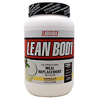 LABRADA NUTRITION Lean Body Meal Replacement Formula, Vanilla Ice Cream 2.47 lb