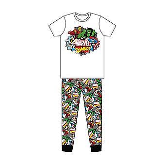 Ensemble de pyjamas d'impression de bandes dessinées marvel comic bandes dessinées classiques