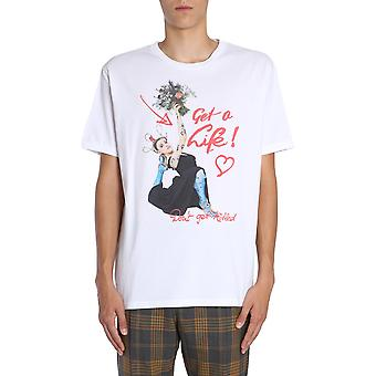 Vivienne Westwood S25gc0399s22634100 Men's White Cotton T-shirt