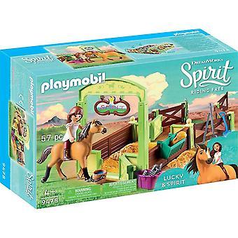 Playmobil 9478 Horsebox (or stable) Spirit