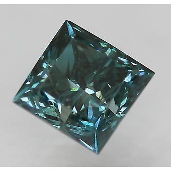 Cert 0,30 Karat Vivid Blau VS1 Prinzessin verbessert natürlichen Diamanten 3.52x3.45mm 2EX