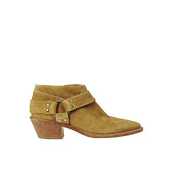 Ganso de Ouro Ezgl041119 Women's Bege Suede Ankle Boots