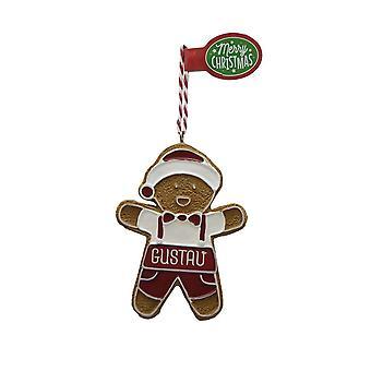 Pendentif d'arbre de Noël gustav de figure de pain d'épice
