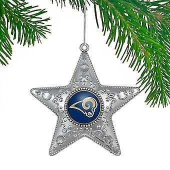 St. Louis Rams NFL Sports Collectors Series Silver Star Ornament