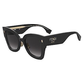 Fendi FF0434/G/S 807/9O Black/Dark Grey Gradient Sunglasses