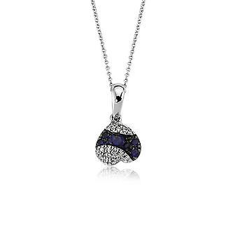 Safir Diamant halsband