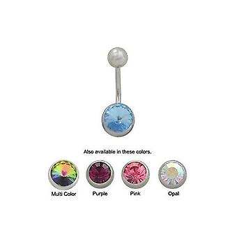 Jeweled design belly button ring