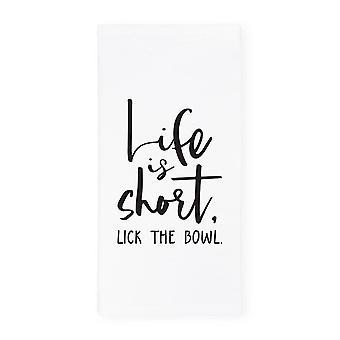 Het leven is kort, lik de handdoek-keuken theedoek