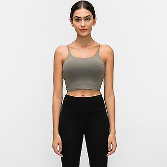 Frauen's Push Up gepolsterte Gym Fitness BHs Crop Tops