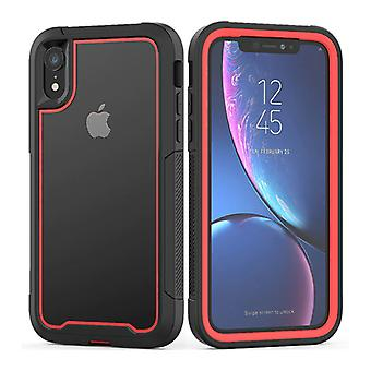 Stuff Certified® Bumper Case with Frame for iPhone SE (2020) - Anti-Shock Case Cover TPU Red