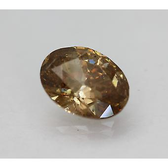 Cert 2.43 Karat Intensiv braun SI2 Oval Enhanced Natural Diamond 10.36x7.8mm