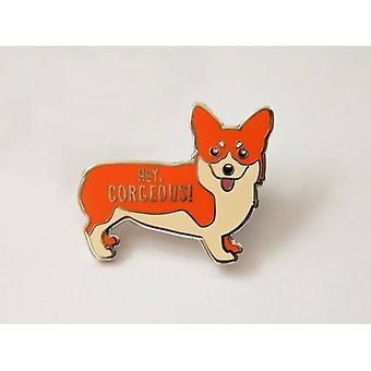 Corgi Hard Emalje Pin