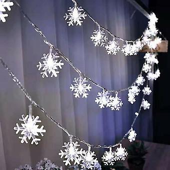 Led Snowflakes String Lights