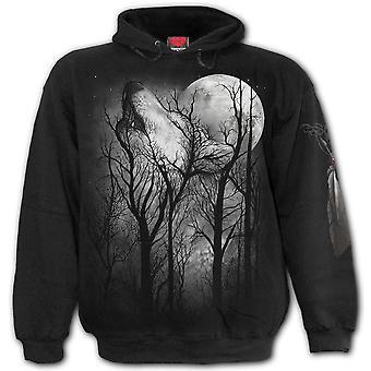 Hoodie de loup de forêt spirale