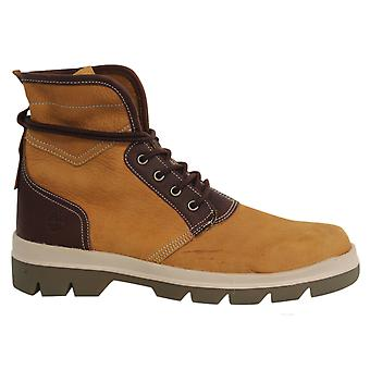 Timberland City Blazer Lace Up Wheat Brown Leather Mens Hi Top Shoes A1GY4 B6A