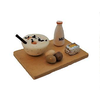 Dolls House Food Cake Baking On Board Miniature Kitchen Accessory