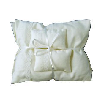 Dolls House White Cream Double Bedding Set 1:12 Bedroom Accessory