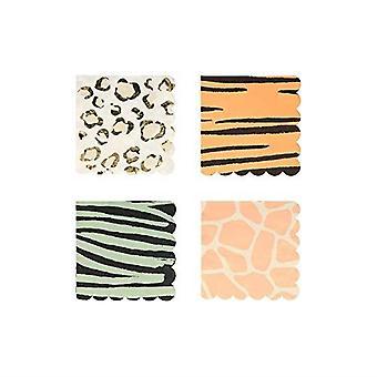 Meri Meri Safari Animal Print Small Paper Party Cocktail Napkins x 16