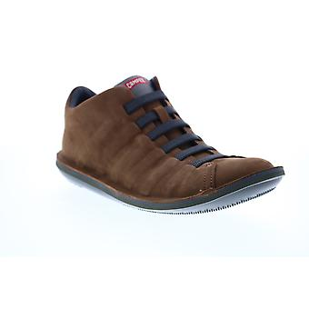 Camper Beetle  Mens Brown Suede Lace Up Euro Sneakers Shoes
