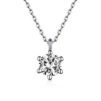Silver Diamond Pendant with Punk Chain Necklace