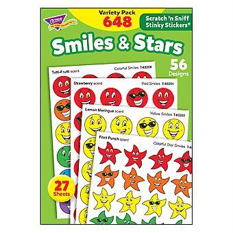 Smiles & Stars Stinky Stickers Variety Pack, 648 Ct