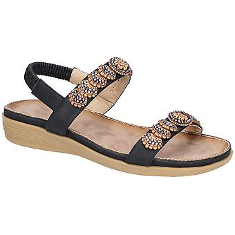 Fleet & Foster Java Womens Ladies Flat Sandals Black UK Size
