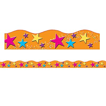 "Borders/Trims, Magnetic, Scallop Cut - 1-1/2"" X 24"", Star Theme, 12/Bag"