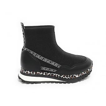 أحذية الطفل ليو جو حذاء رياضي سوك وندر 13 منتصف أسود Zs21lj08 4a1737