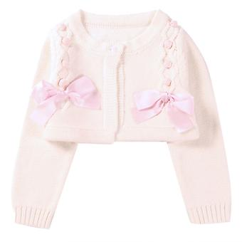 Toddler Girls Spring Fall Short Outerwear Knitted Cardigan for Birthday 120cm Pink