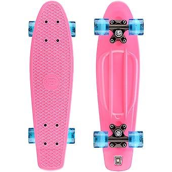 Xootz Kid's Komplett Retro Plast Skateboard med LED Light Up Hjul Rosa