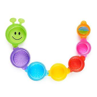 Vasos de juguete de baño Munchkin vasos de oruga 7pk