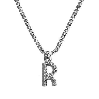 Fashion Crystal Letter Pendant Necklace