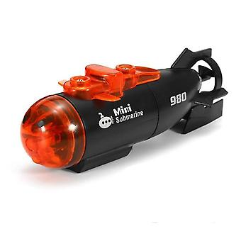 Micro Radio Remote Control Rc Submarine Ship Boat With Led Light Toy