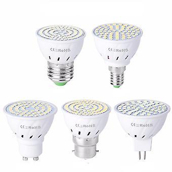 Gu10 Led E27 Lámpara E14 Spotlight Bulb 48 60 80leds Luz puntual